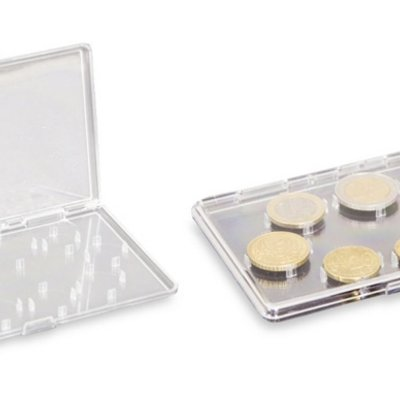 Plastic case for a set of collector coins