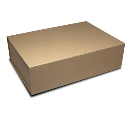 Magnetic folding box Format 4 - 345x250x100 mm - brun mat