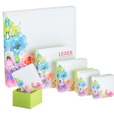 Cardboard box jewellery packaging multicoloured in many sizes - high-quality jewellery boxes at LESER