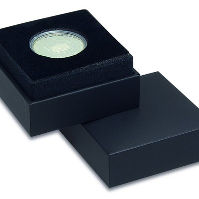 Case for coin capsules with black inlay