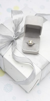 Jeweler jewelry packaging small white case for a ring