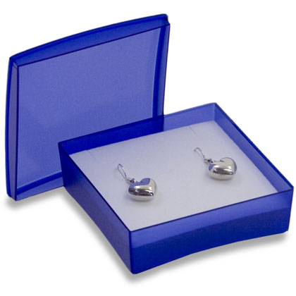 LESER jewellery box plastic box with removable lid for ear studs