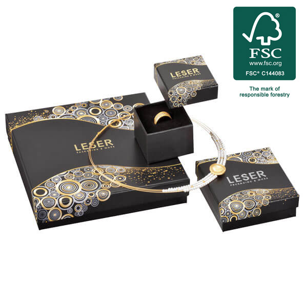 Jewelry boxes from sustainable forestry with the FSC® label