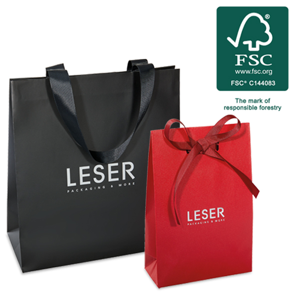 Carrier bags made of FSC-certified materials