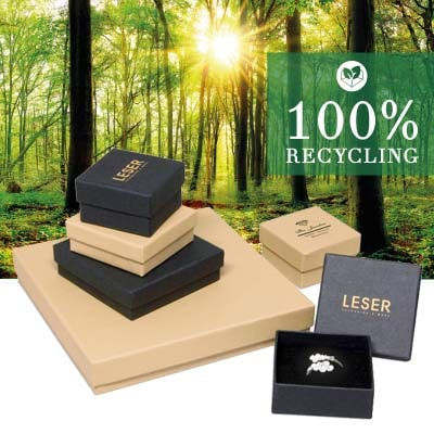 Teaser for 100% recycled packaging from the company LESER