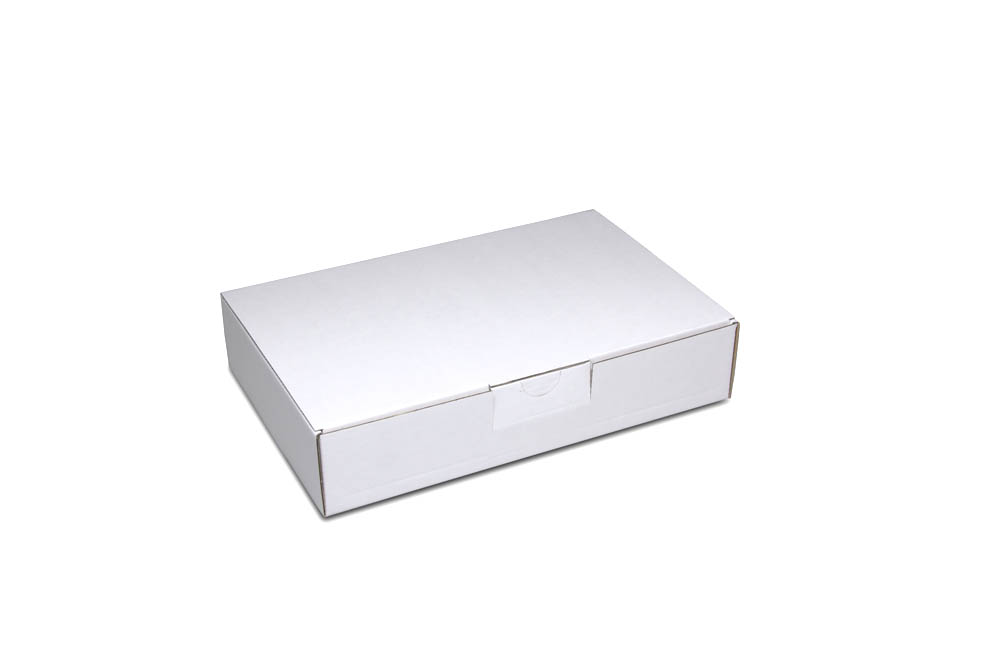Corrugated cardboard shipping box: size 3: 243x160x50 mm - even in small quantities