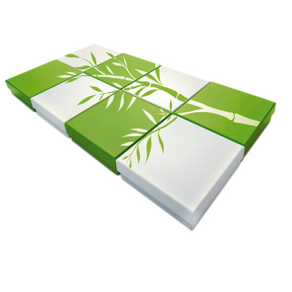 Greenpack bioplastics packaging Greenpack bioplastics boxes green and white