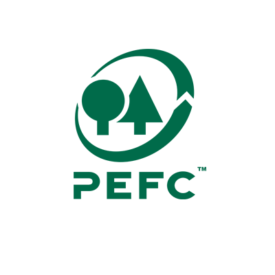 The PEFC logo stands for sustainable forest management