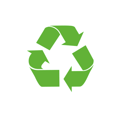 Through material recycling, materials function in a closed cycle economy
