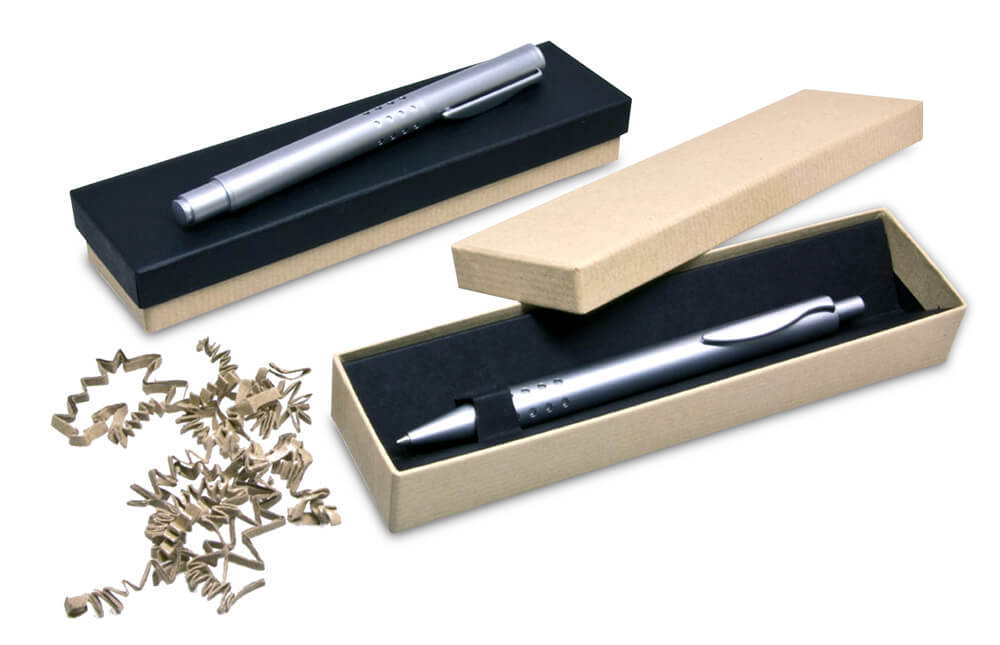 Writing instrument packaging in sustainable design