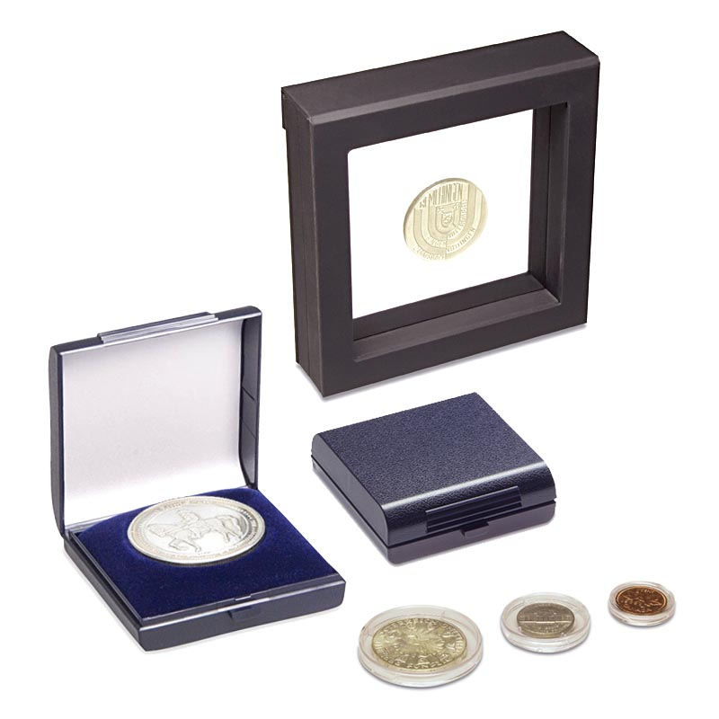 Coin cases and packaging for coins from LESER GmbH